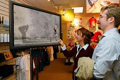 Dynamic Monitor in negozio di Abbigliamento
