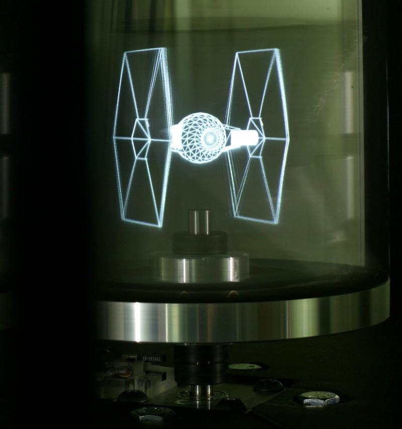Specchio Rotante Olografico 3D