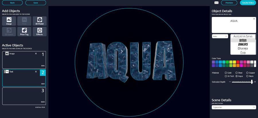 Proiettore Olografico 3D con effetto Aqua