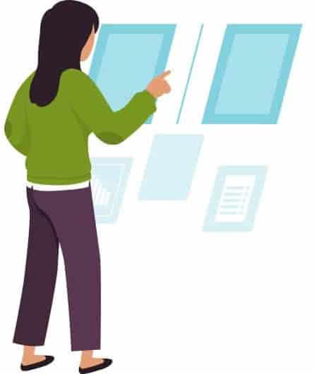 Monitor da vetrina e interni professionali