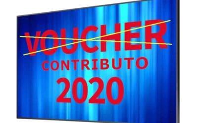 Il Voucher diventa Contributo per i Monitor da Vetrina del 50%